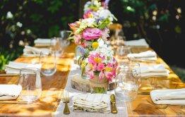 חתונה בקיבוץ עיצוב מרכזי שולחן
