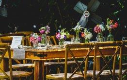 מבט לאזור הושבה חתונה בקיבוץ