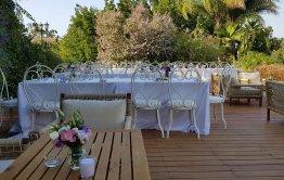 כרם יין הושבה באירוע חתונה