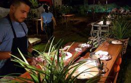 דוכני מזון בחתונה בבית