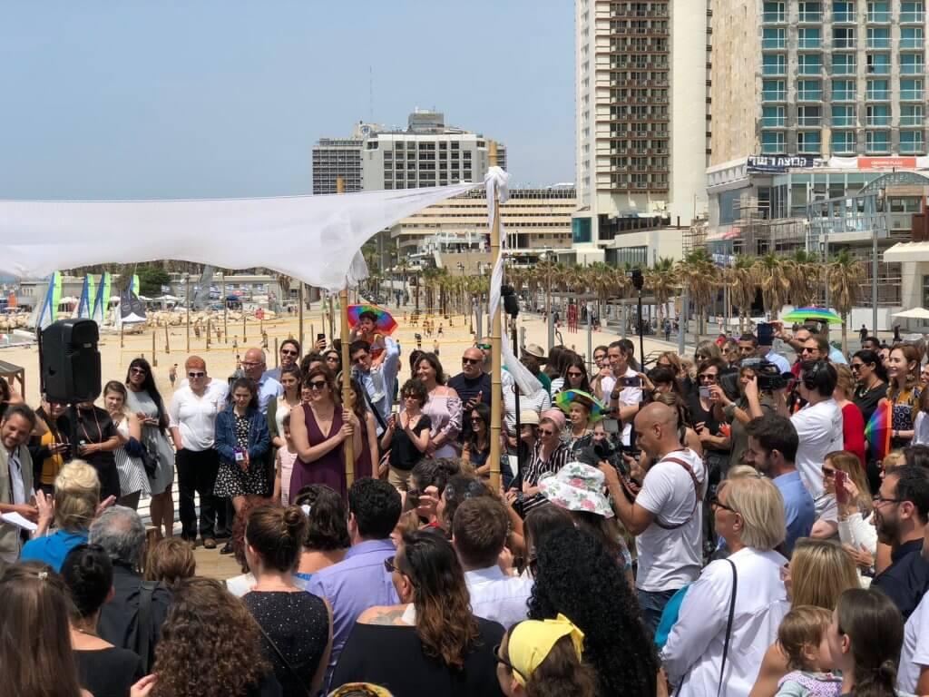 חתונה עם חופה על הים בתל אביב