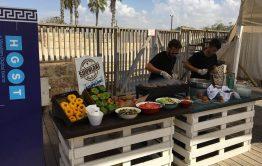 אוכל בקו יווני לאירוע חברה