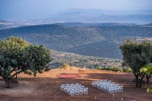 חתונה בטבע מעל צוק