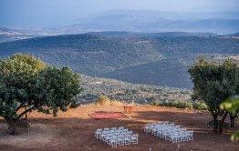 חתונה בטבע מבט לנוף