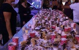 שולחן מתוקים בר מצווה באולם